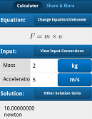 Force equation calculator android app